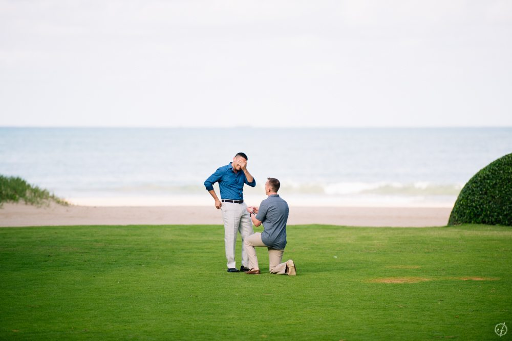 engagement proposal photography at St Regis Bahia Beach Resort by Puerto Rico wedding photographer Camille Fontanez
