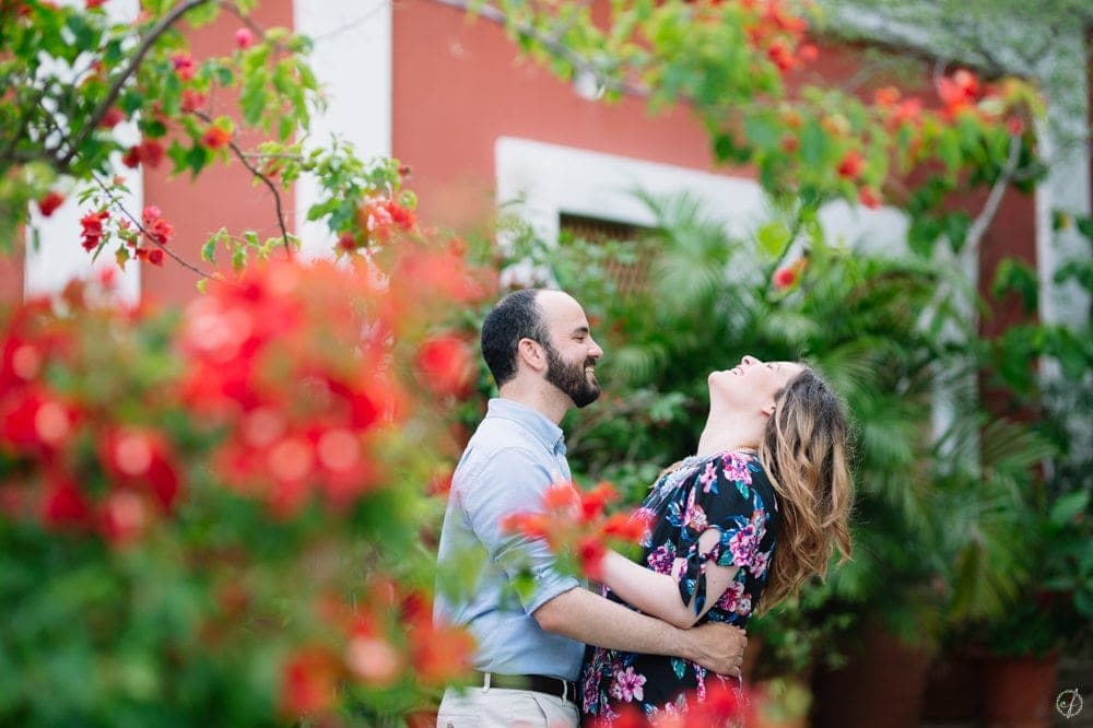 vacation engagement photos on Old San Juan Puerto Rico by destination wedding photographer Camille Fontanez