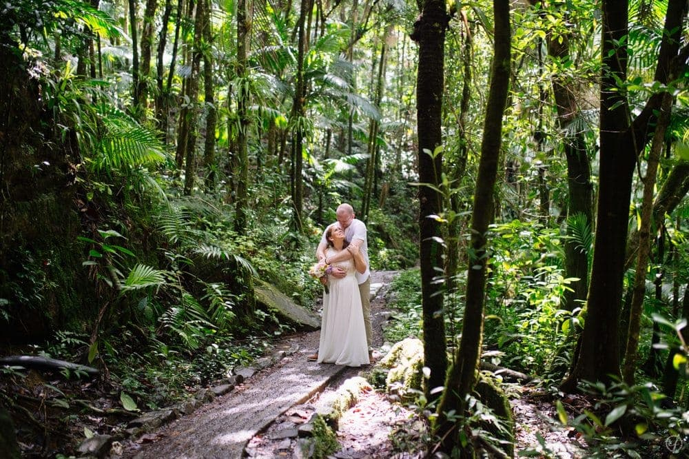 el yunque rainforest elopement photos