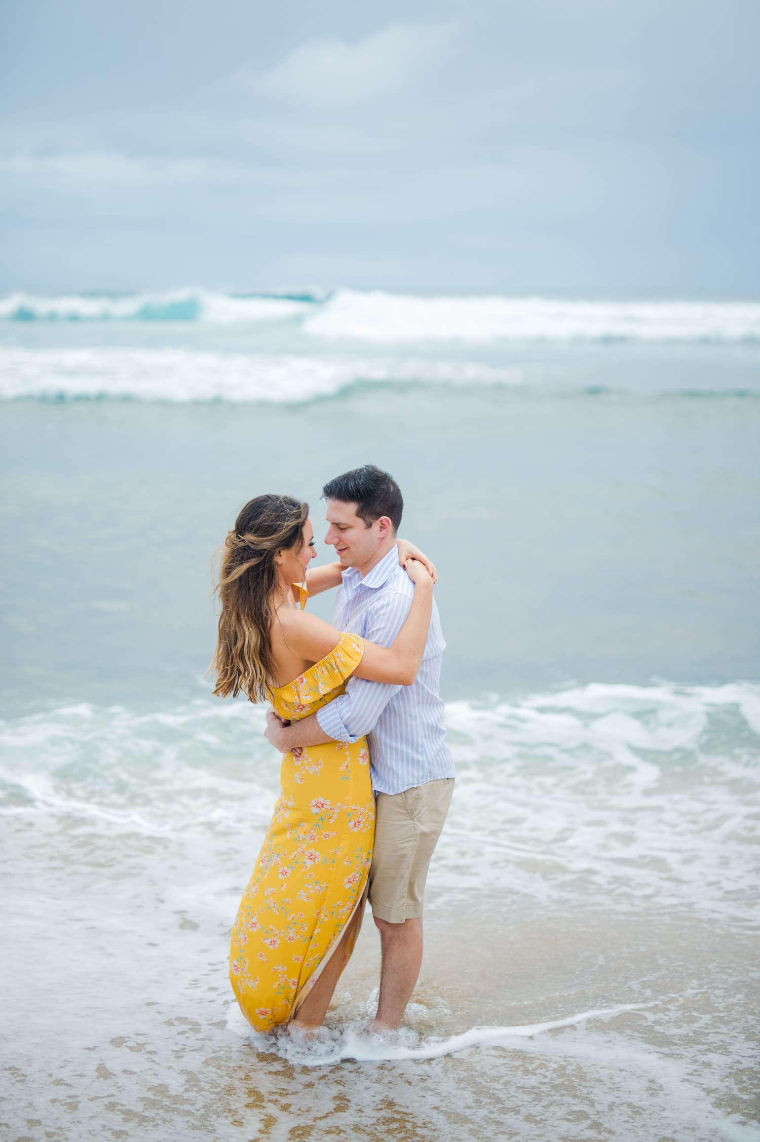 wedding photographer Camille Fontz captures a beach engagement portrait session in Aguadilla, Puerto Rico