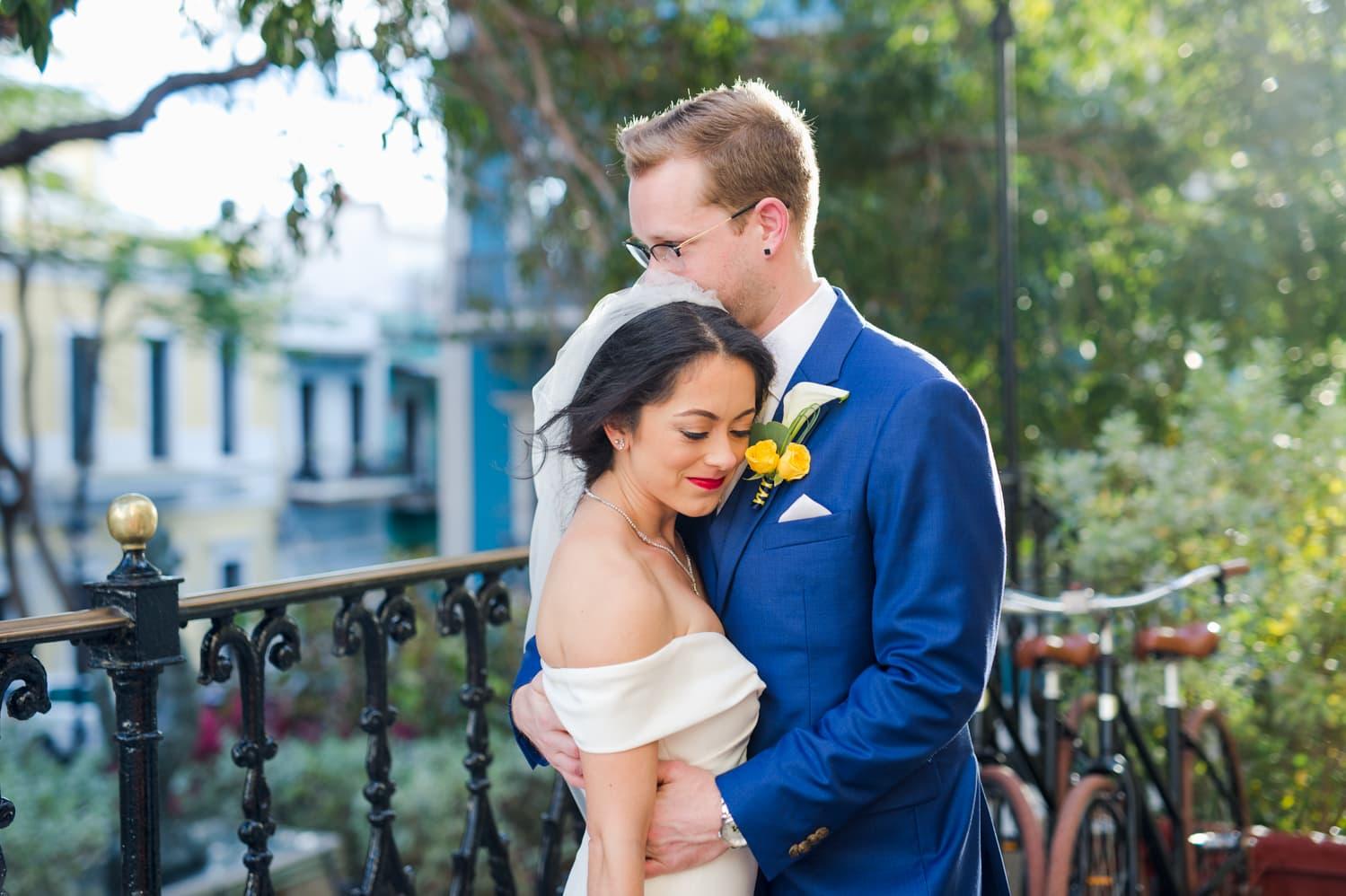 destination wedding at Hotel El Convento in Old San Juan by Puerto Rico photographer Camille Fontanez