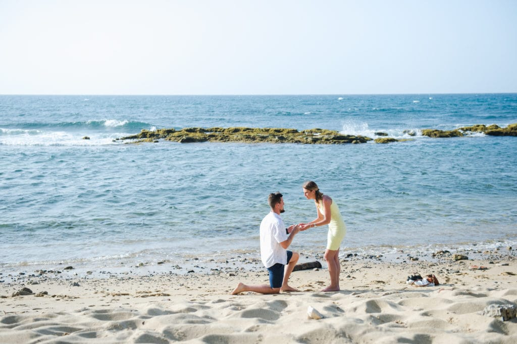 marriage proposal at old san juan beach