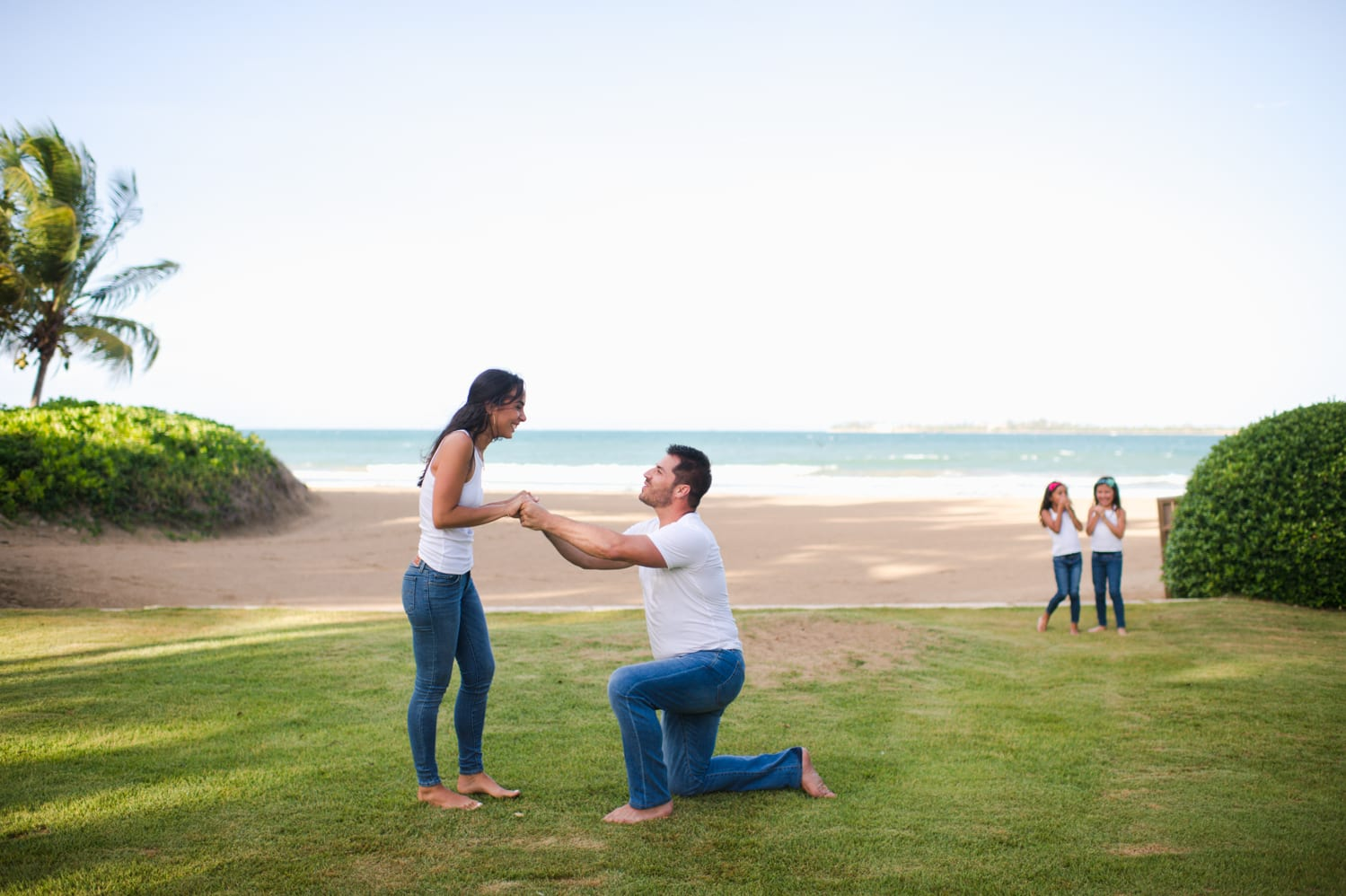 family session and marriage proposal at St Regis Bahia Beach Resort by Puerto Rico wedding photographer Camille Fontanez
