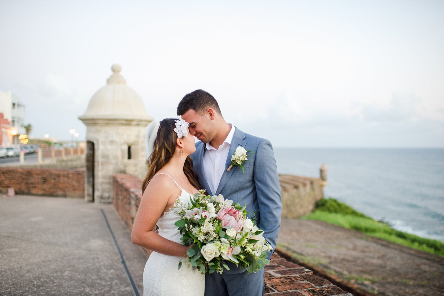 Sunrise elopement photography by Camille Fontanez at El Morro Fortress